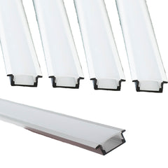 Cabinet Recessed Aluminum channel with cover for LED Strip light fit 6mm to 10mm