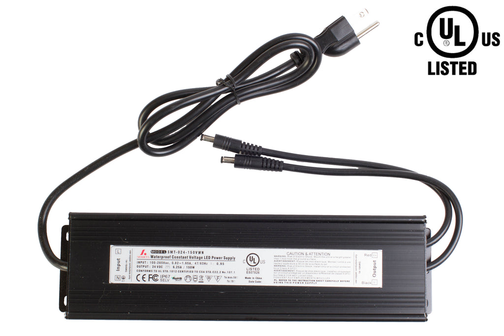 UL listed 24v 6.25 Amp 150w waterproof Power supply Driver