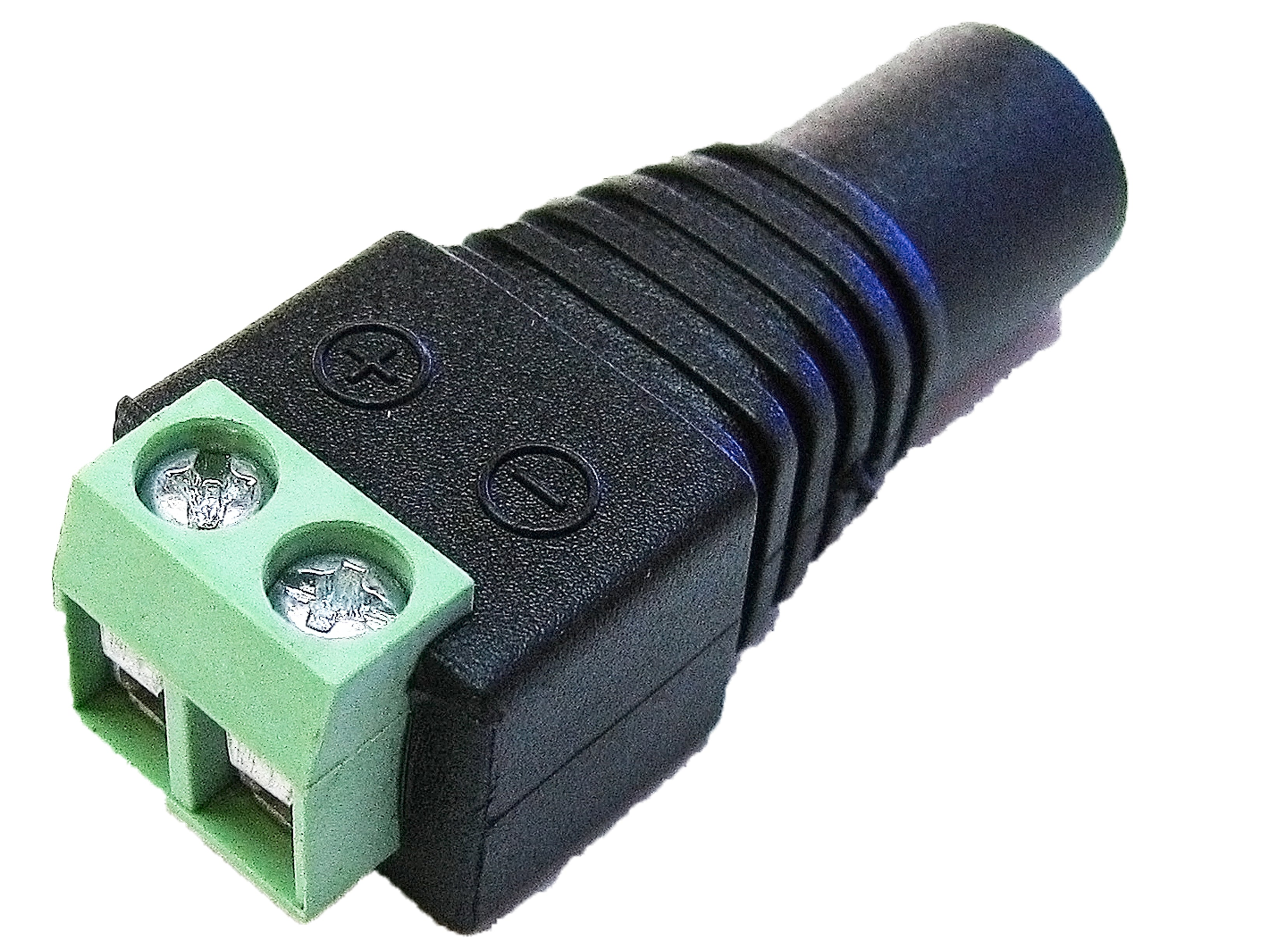 LED Light to Female DC power supply connector