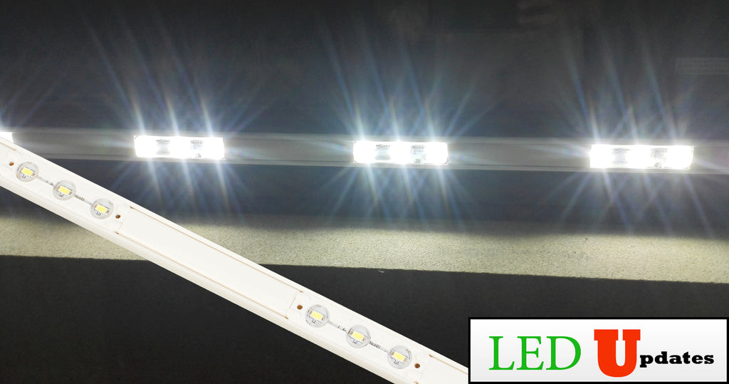 Storefront LED white track with White T5630 Super Bright LED Light