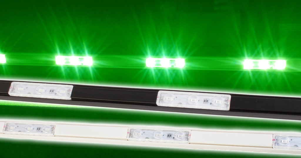 Storefront LED white track with Green T5630 Super Bright LED Light