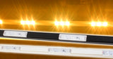 Storefront LED white track with orange T5630 Super Bright LED Light