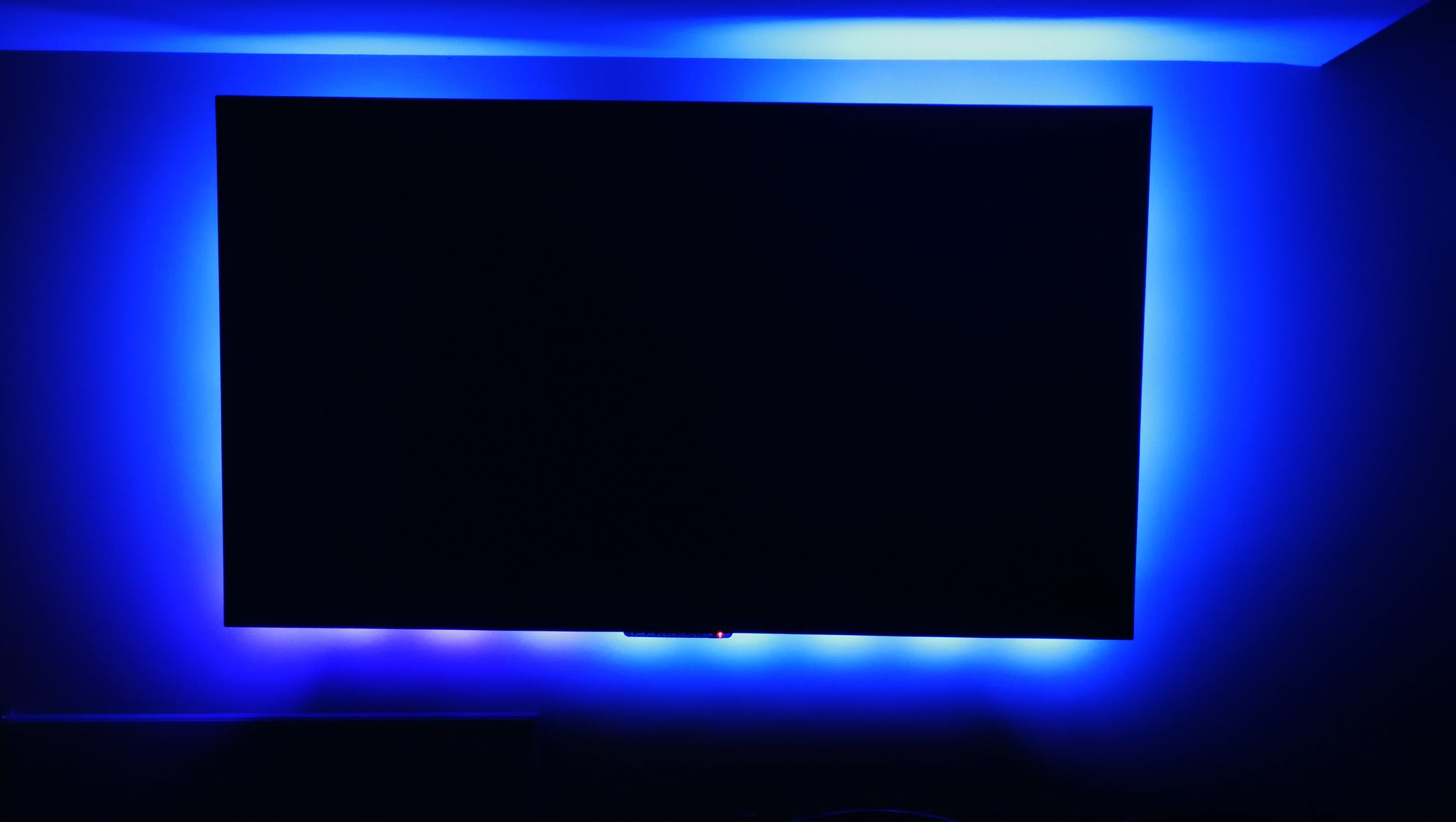 Blue Tv Background Led Light With Wireless Remote And Ul