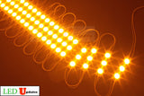 Storefront LED white track with orange T5630 Super Bright LED Light - LED Updates
