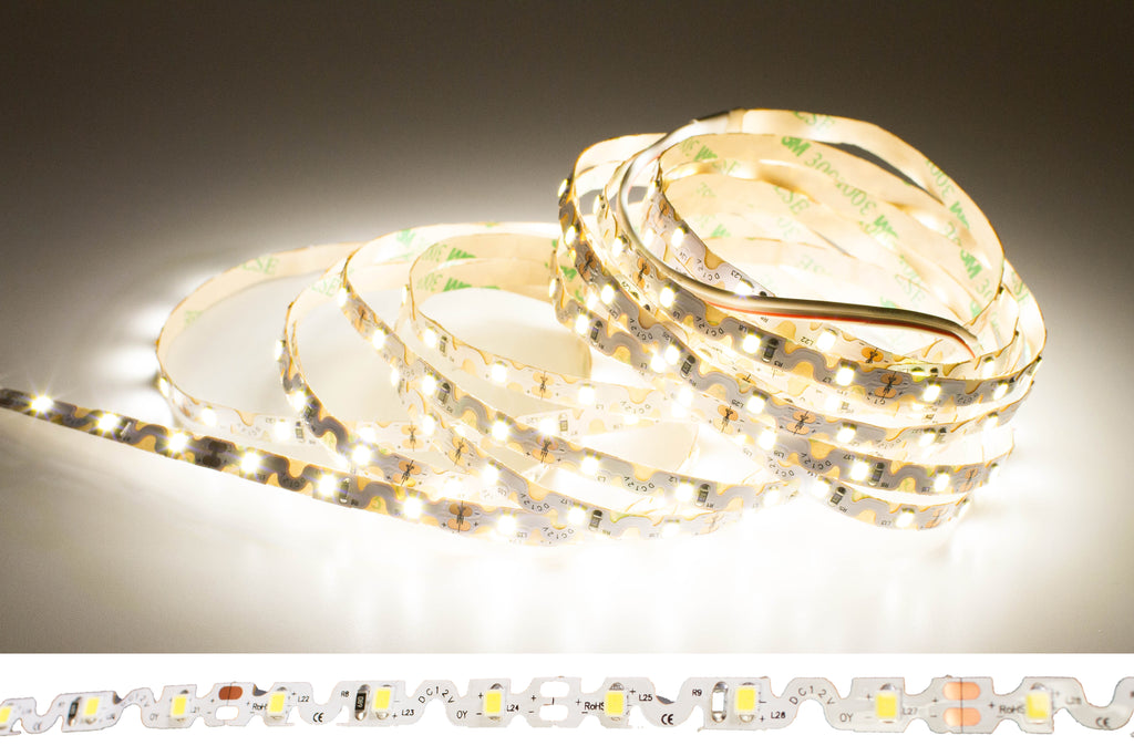 12v S Shape 4000k Neutral white color 2835 LED strip light