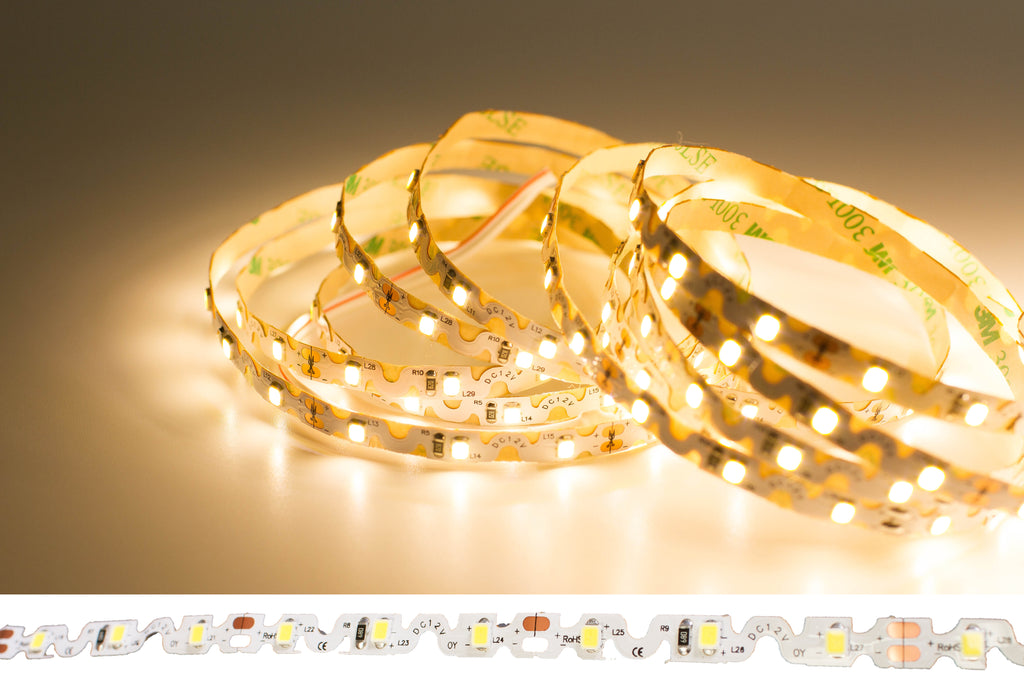 24v S Shape 3000k warm white color 2835 LED strip light