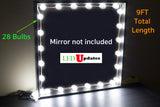 Bulb Series Makeup mirror LED light package with dimmer 9ft in length - LED Updates