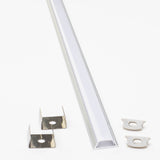 24v Ultra Premium Super Bright Series CRI 95 6000k Pure white color LED strip light + Aluminum Channel