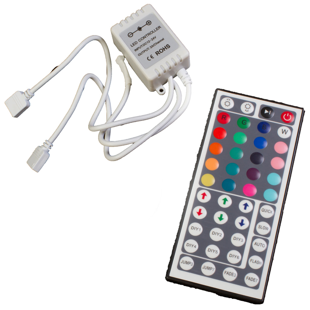 Wireless RGB LED Light Controller with Remote 6 AMPS