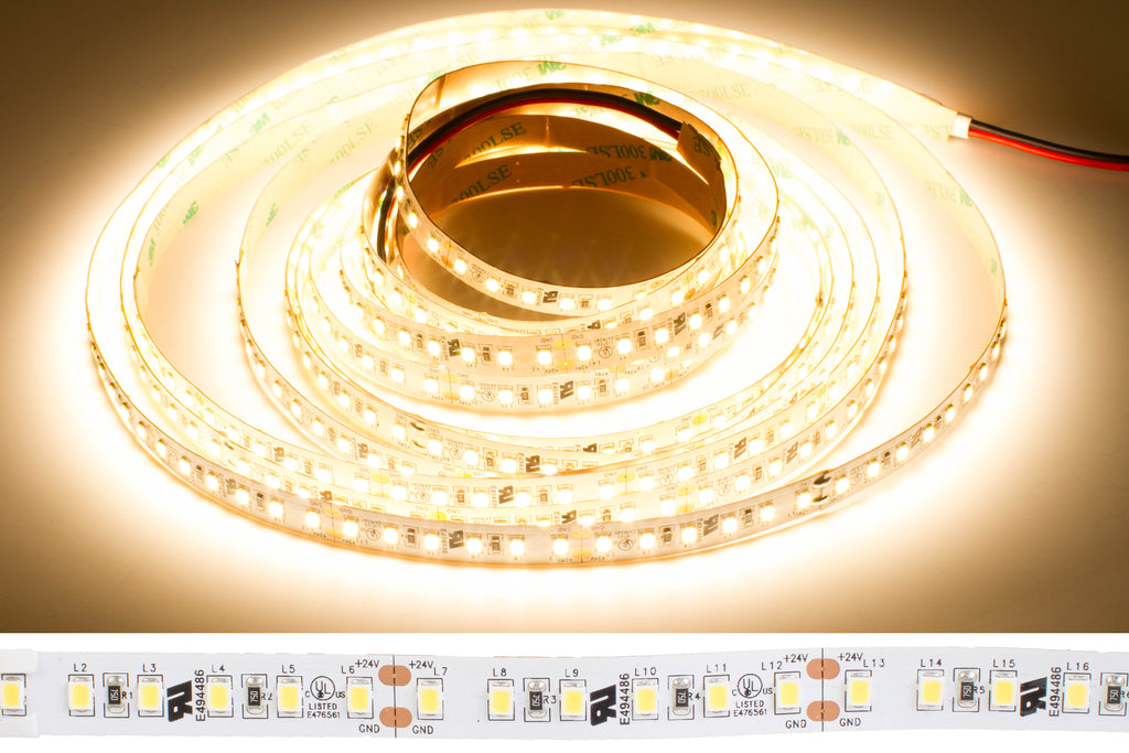 24v Premium Super Bright Series CRI 95 3000k Warm white color LED strip light