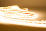 24v Ultra Premium Super Bright Series CRI 95 3000k Warm white color LED strip light + Aluminum Channel