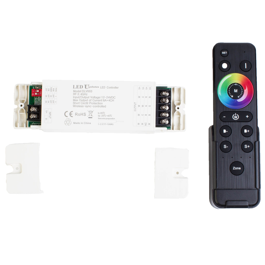 Wireless Heavy Duty 4-in-1 RGB, RGBW, CCT and Single Color LED Light Controller 24 AMPS