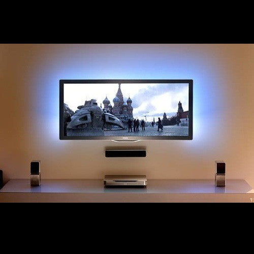 Blue TV Background LED light with wireless remote and UL Power Supply