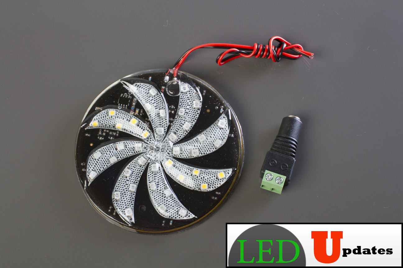 Rotating effect LED light for party, business decoration, car, and home christmas decoration