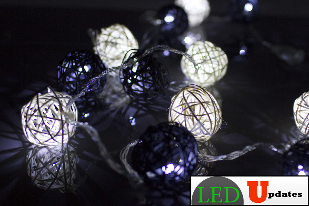 15ft Vine Ball Shape Black and White color Decoration LED