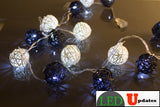 15ft Vine Ball Shape Black and White color Decoration LED - LED Updates