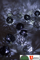15ft Vine Ball Shape Black and Gray color Decoration LED - LED Updates