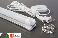 4ft 20watt frosted intergrated power driver LED Tube include 6ft power cable with ON/OFF switch - LED Updates