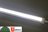 4ft 20watt Clear integrated power driver LED Tube include 6ft power cable with ON/OFF switch - LED Updates