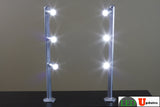 Jewelry LED Pole light model FY-53 silver 6000K - LED Updates