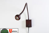 Flexible Gooseneck Sconce Wall Mounted pure white LED light Bronze finish