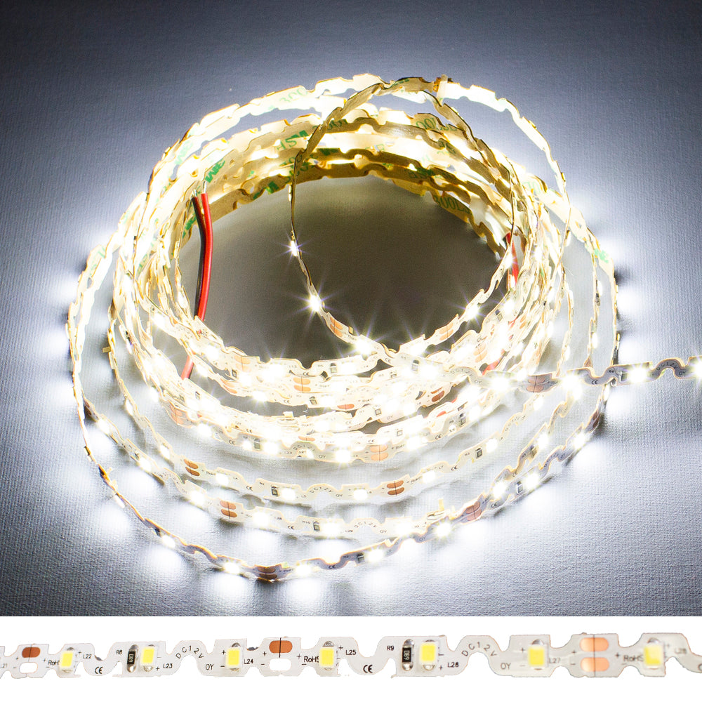 24v S Shape 6000k white color 2835 LED strip light