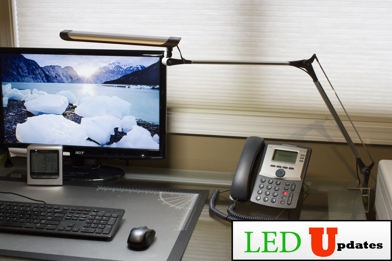 Clamp On Architect Led Desk Lamp With Multipoint