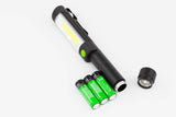 Bright Magnetic Pen LED FlashLight with Red Warning Light