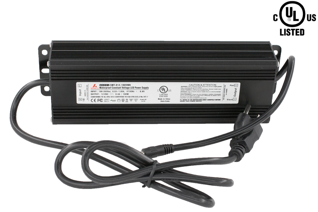 UL listed 12v 8.3 Amp 100w Constant Voltage waterproof Power supply Driver