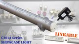 "65 inches (18"" + 18"" + 28"" linked) White C3014 LED light with UL 3A power supply"