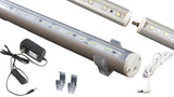 "74 inches (28"" + 28"" + 18"" linked) White C3014 LED light with UL 3A power supply"