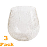 3 Pack crackle glass globe shade for light fixture