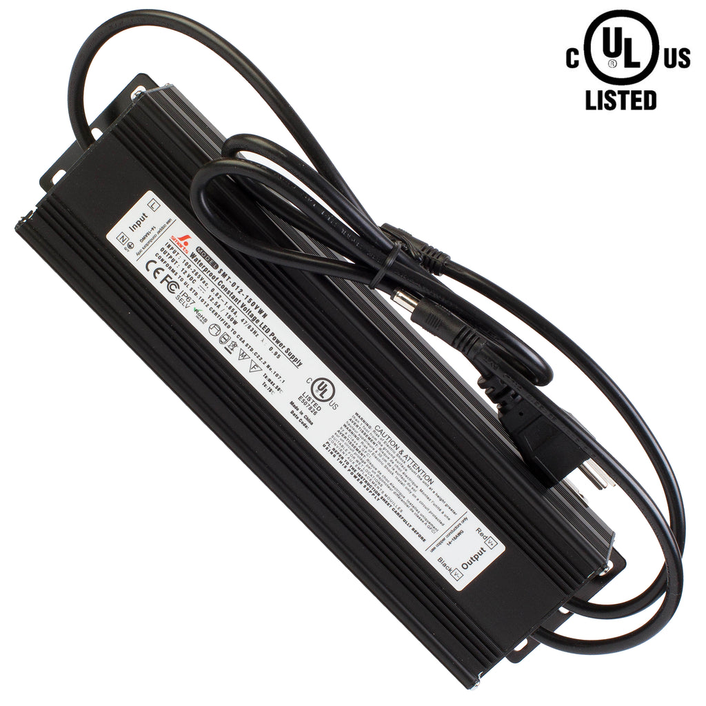 UL listed Waterproof 12v 12.5A 150w Power Driver
