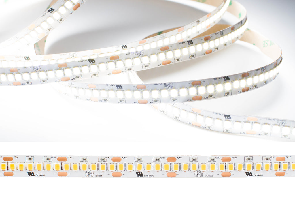 24v Ultra Premium Super Bright Series CRI 95 6000k Pure white color LED strip light