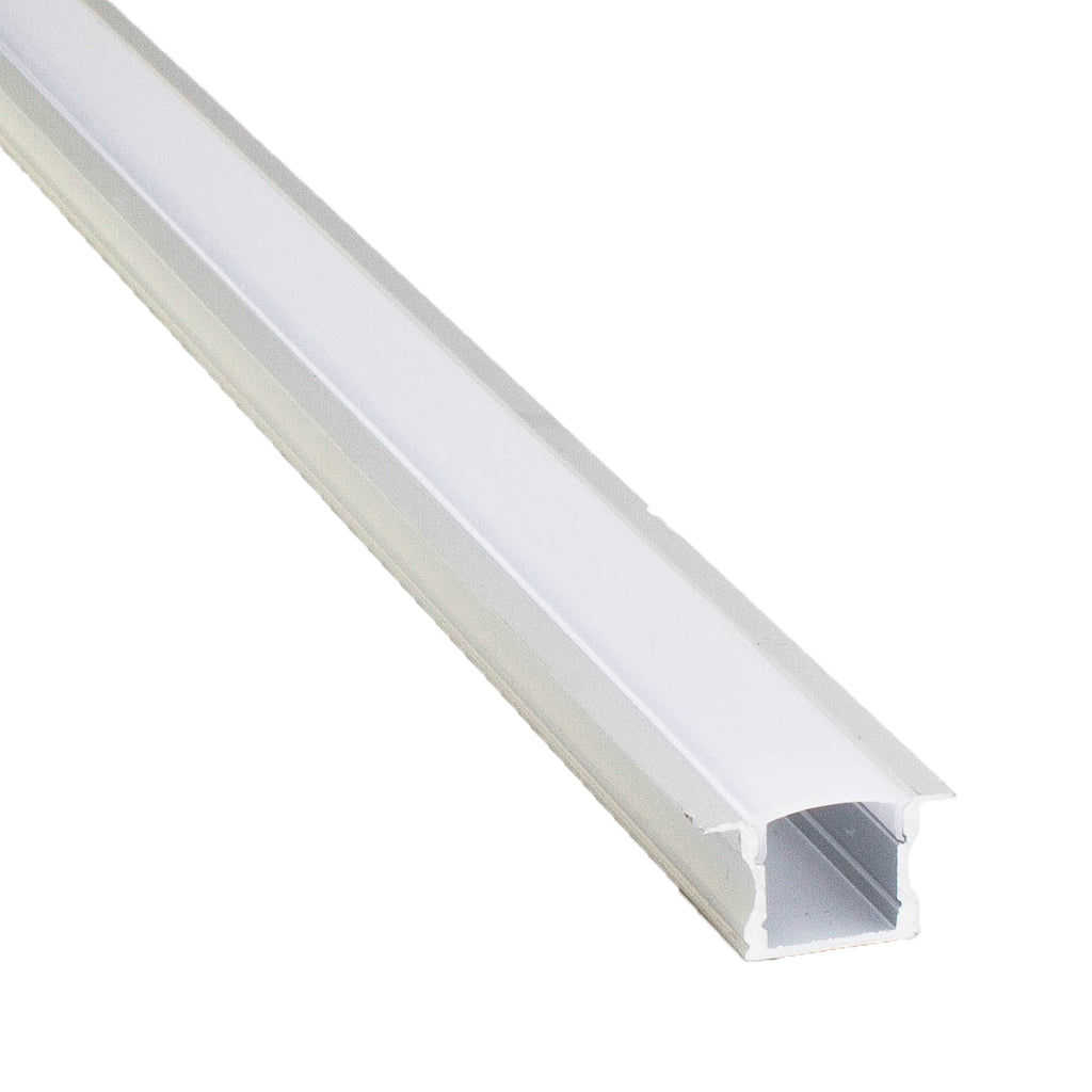 Recessed Aluminum channel with cover for LED Strip light fit 6mm to 10mm