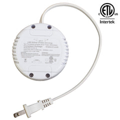 ETL Listed 12V 2.5A 30w Class 2 Triac dimmable round shape power supply