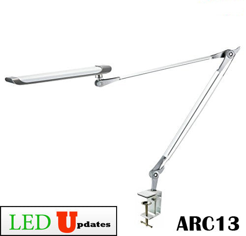 Clamp on Architect LED Desk Lamp with Multipoint adjustable arm