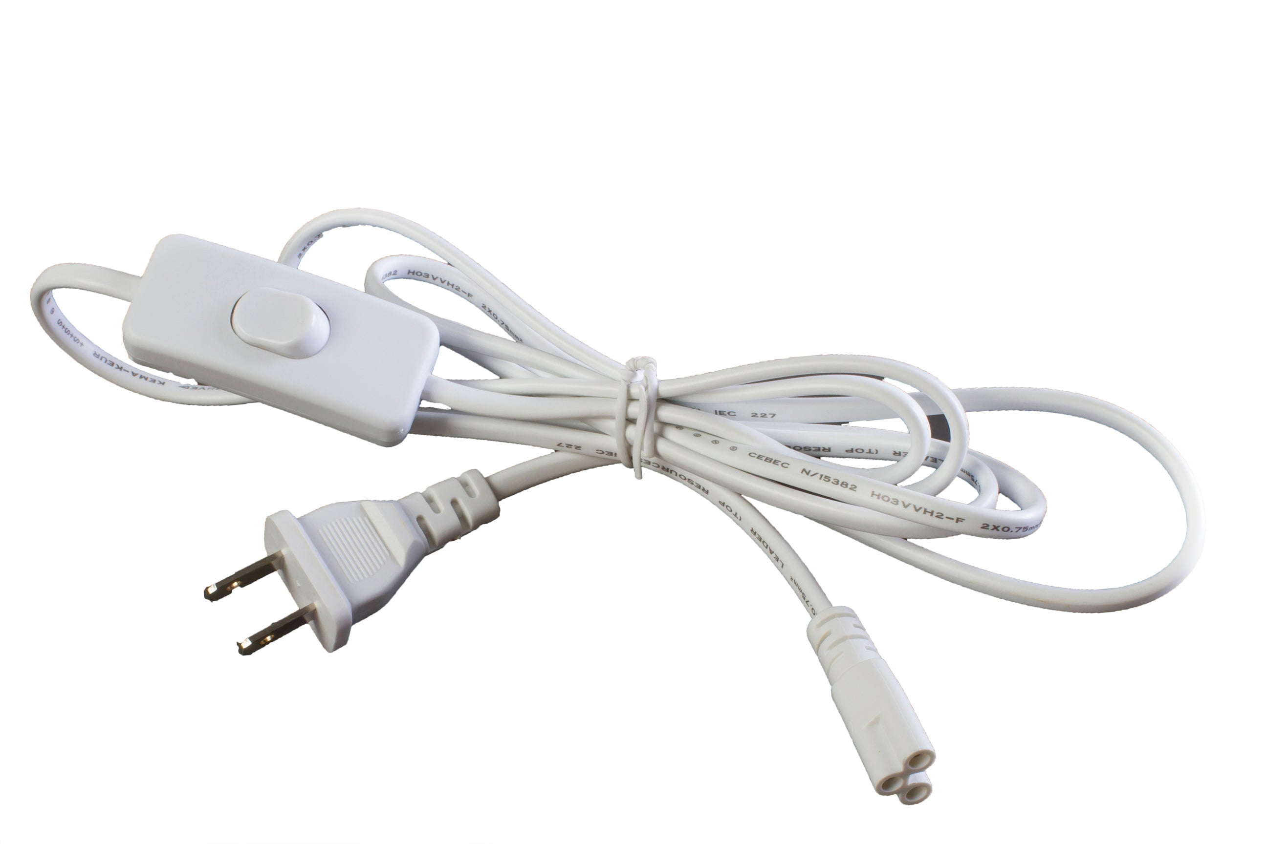 6ft Integrated LED Tube Power cable with ON/OFF switch