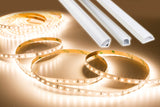 12v 2835 Series CRI 95 3000k Warm white color LED strip light + Aluminum Channel