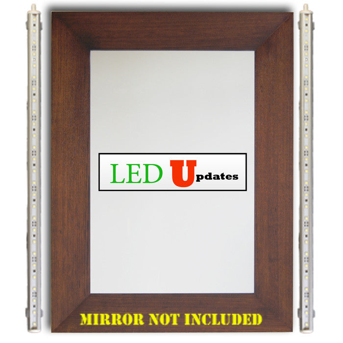 "2pcs 18"" Makeup mirror White LED light C3014 Series with wireless remote dimmer - LED Updates"