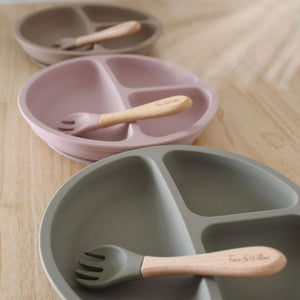 Foxx & Willow Plate & Fork - Blush