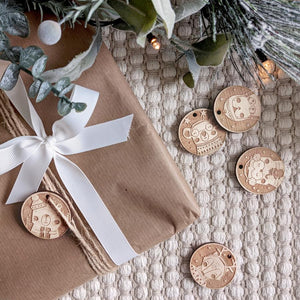 Paper and Bean Pack of Gift Tags