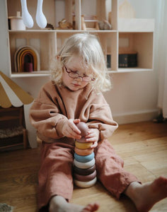 Mushie Stacking Rings Toy - Rustic