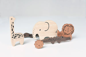 Wee Gallery Wooden Tray Puzzle - Safari