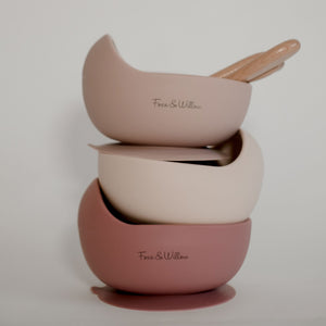 Foxx & Willow Bowl & Spoon - Dusty Rose