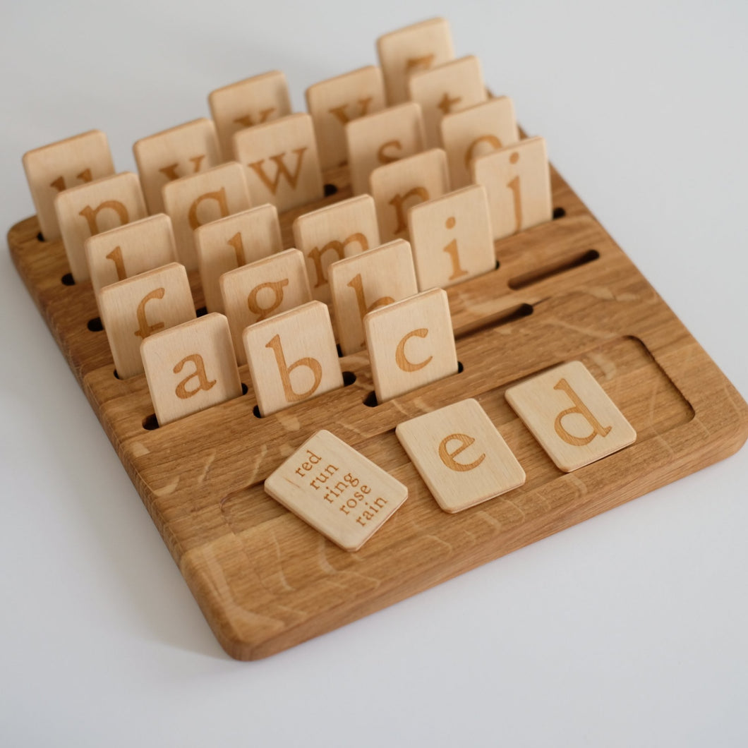 Three Wood Word-Building Set