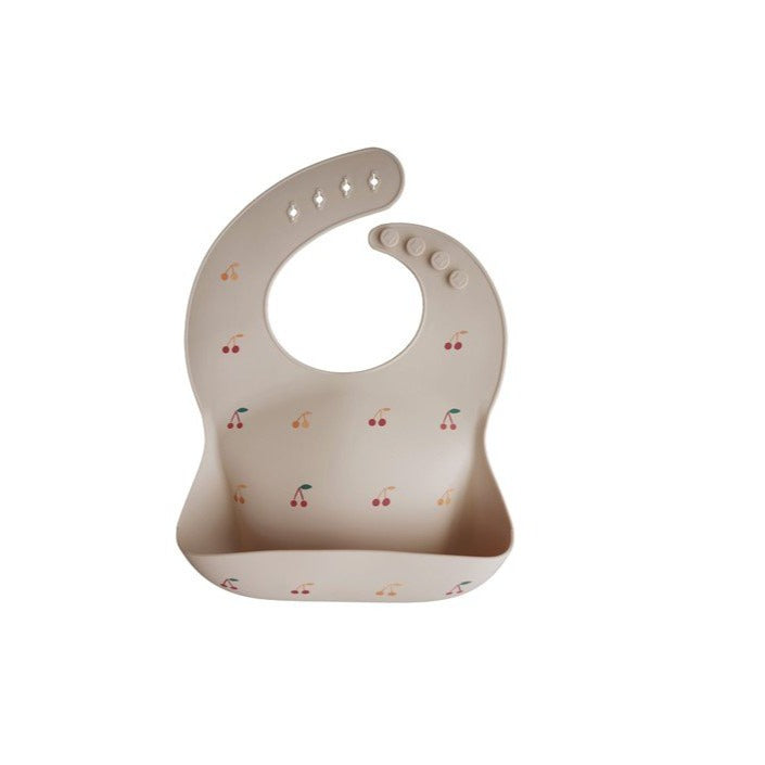 Mushie Silicone Bib - Cherries