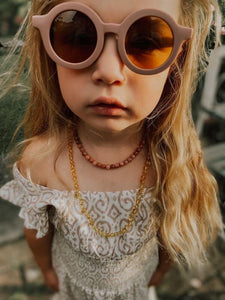 Grech & Co Sustainable Kids Sunnies - Burlwood
