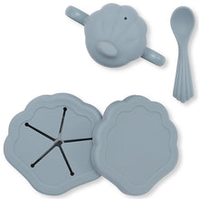 Load image into Gallery viewer, Konges Sløjd Silicone Clam Set - Light Blue