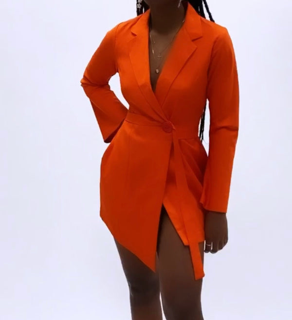 Boss Babe Belted Blazer Dress